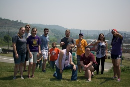 The group at the scenic overlook in Steubenville, OH