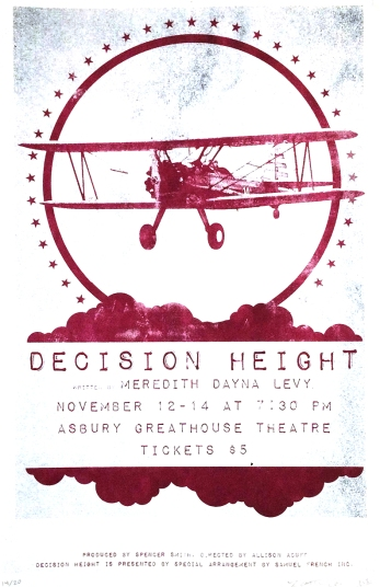 The posters for Decision Height were screen printed.