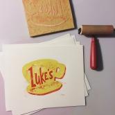 Luke's. Wood cut.